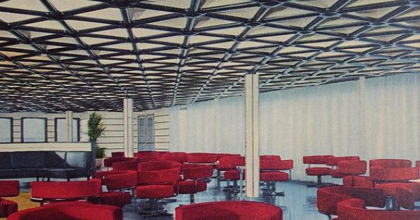 Tourist Class Veranda Bar. Italian Liner Raffaello, mid 1960s | Ships ...
