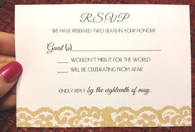 Wedding Rsvp Wording