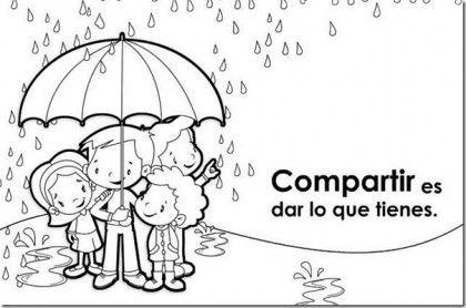 Imagenes De Solidaridad Para Colorear Lluvia 420x278 Educar En