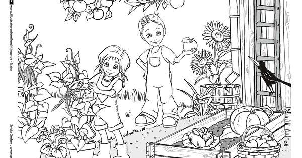 download als pdf natur  garten  herbst  kids world