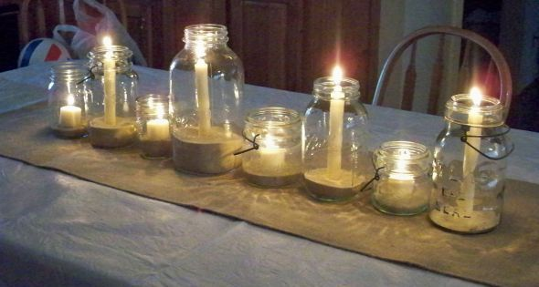 rustic table decoration - Google Search