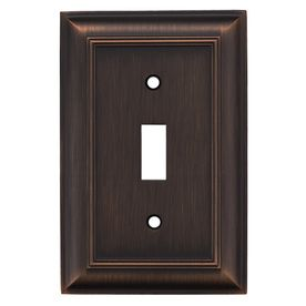 Gang Oil Rubbed Bronze Standard Toggle Metal Wall Plate With