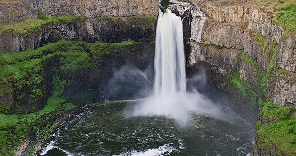The Palouse Falls lies on the Palouse River, about 4 mi (6