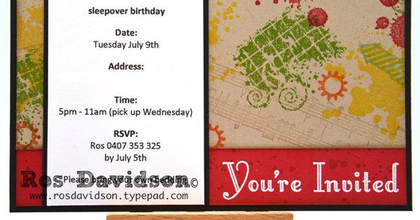 Boys 10th birthday invitation   Stampin' Up! invitations ...