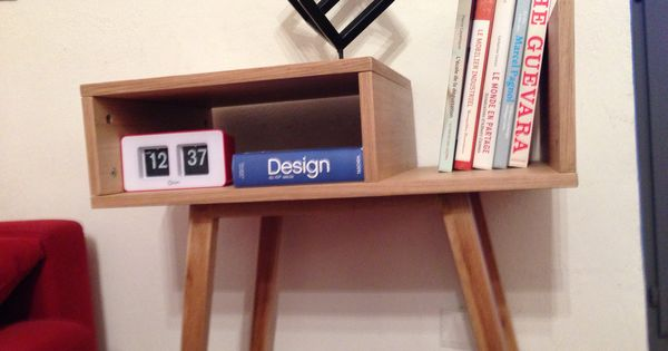 Petit meubles sur mesure scandinave pratique pour ranger for Meuble rangement vinyl