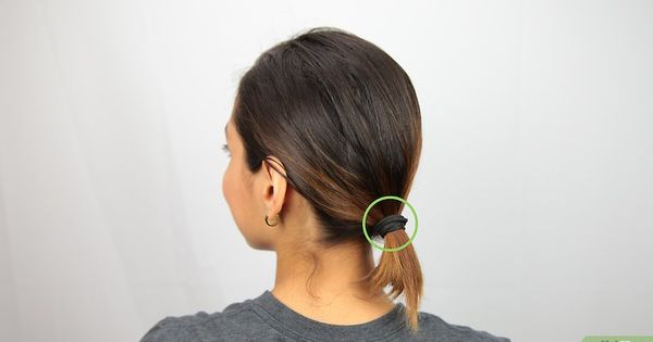 3 Ways To Make A Bun For Short Hair Wikihow Short Hair Bun Messy Bun For Short Hair Short Hair Ponytail