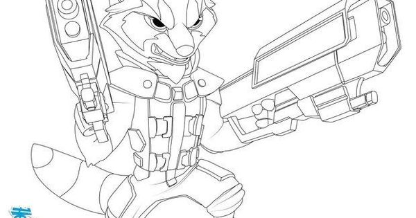 rocket raccoon coloring pages | GUARDIANS OF THE GALAXY coloring pages - Rocket Raccoon ...