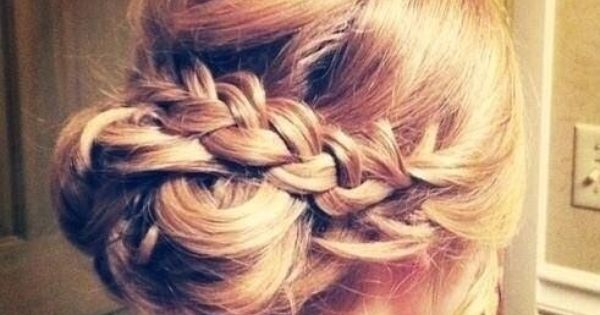 Awesome Prom Hair Braided Updo And Prom On Pinterest Hairstyles For Men Maxibearus
