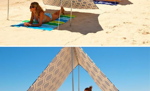 Beach Tent: Sewing project - looks easy enough. Grommet several locations. Ideas