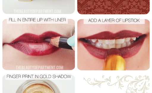 Wanna try a dark lip! Translate the Baroque Fall Fashion trend with