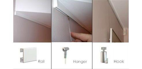 Clip Rail Hanging System Art Hanging System Hanging Art Hanging