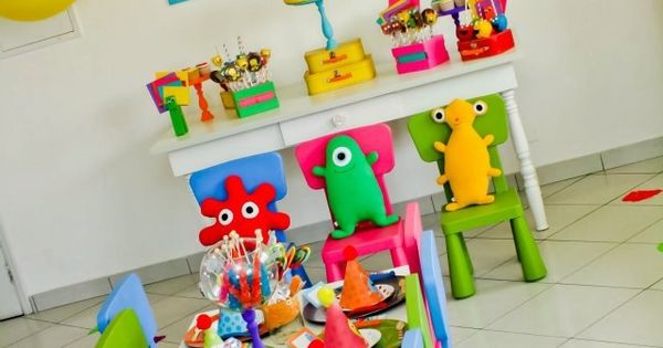 Monsters, Colors, Neon, Kids Party