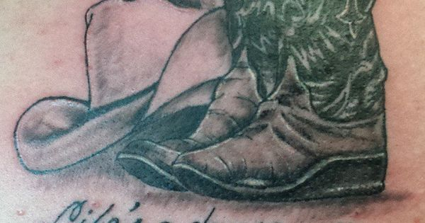 Cowboy hat tattoo. Seriously considering it... I love the shading.