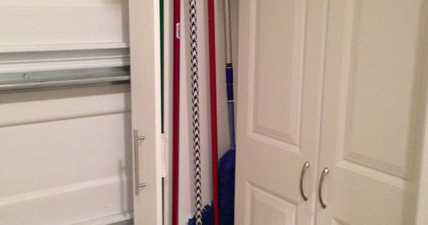 Garage Organized Broom Closet Garage Pinterest