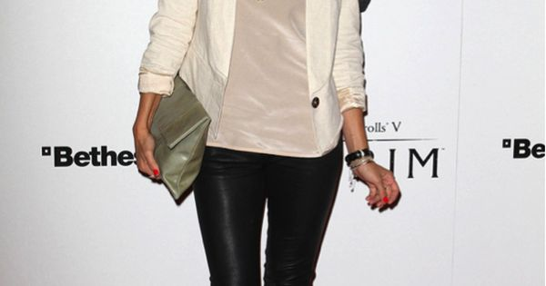 lauren conrad in leather leggings. Want this outfit!