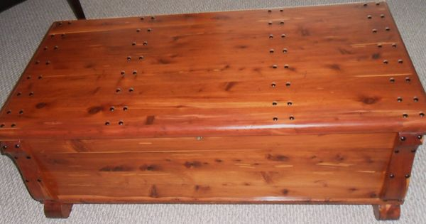100 Year Old Cedar Chest Had Copper Straps And An Awful