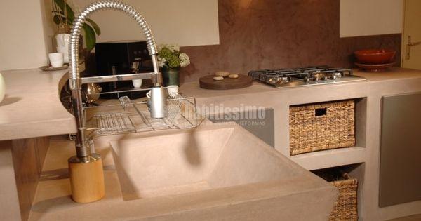 Cocina de cemento pulido en tono claro!!! otra muestra de la ...