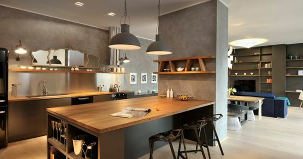 offene k che wohnzimmer abtrennen offene k che mit theke. Black Bedroom Furniture Sets. Home Design Ideas