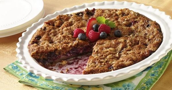 Impossibly Easy Mixed-Berry Crumble Pie | Recipe | Berries, Pies and ...