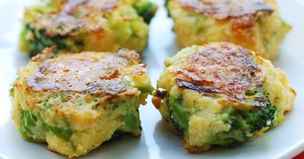 Cheesy Broccoli Bites | Healthy Recipes Blog (alter with egg whites, fresh