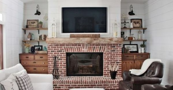 Feature Friday Modern Farmhouse In North Atlanta Fireplace