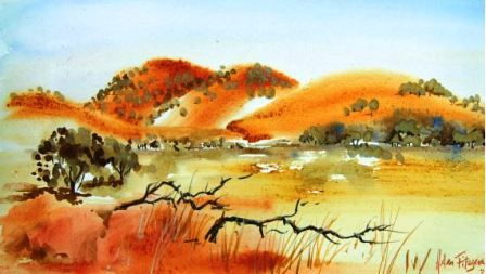 Colours Of Australia Helen Fitzgerald Watercolour