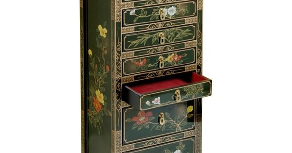 semainier chinois laque verte 8 tiroirs promodiscountmeubles le meuble chinois magasin en. Black Bedroom Furniture Sets. Home Design Ideas