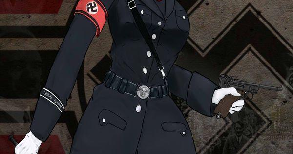 Nazi Anime Girl No Sir Anime Cartoon Draw Soldiers