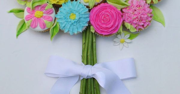 Cupcake Flower Bouquet - Mothers' Day, baby shower, bridal shower or tea