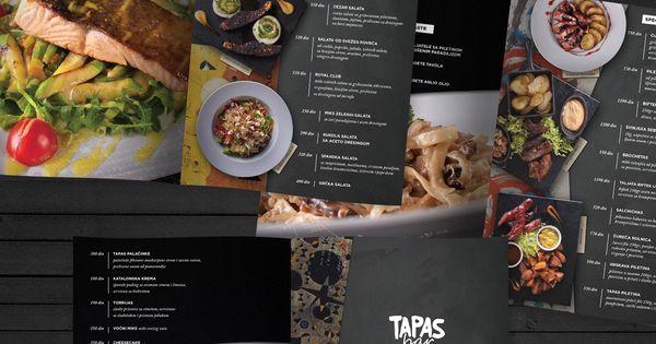 tapas menu template - menu design for tapas bar restaurantdesign borko