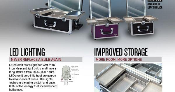 Monda led cases miroir valise de maquillage pinterest for Miroir 9 cases