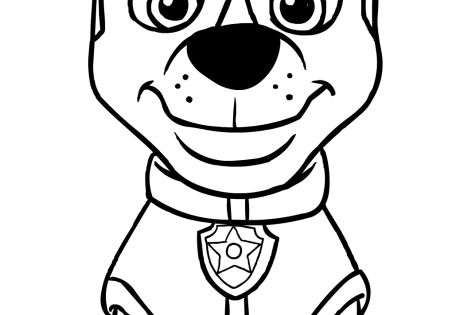 Paw patrol chase coloring pages Baby crafts Pinterest