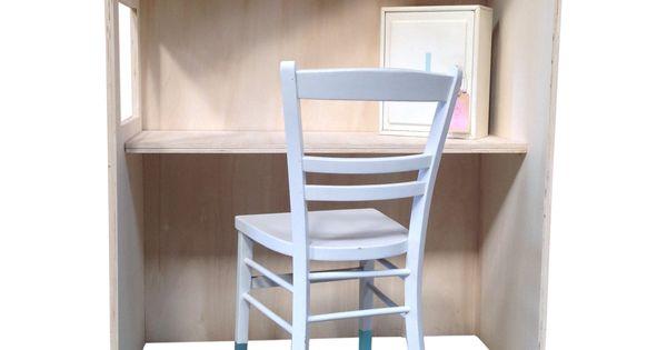 Houten speelhuisje bureau in de vorm van een huisje speelhuisje kinderen kindjes pinterest - Houten bureau voor kinderen ...