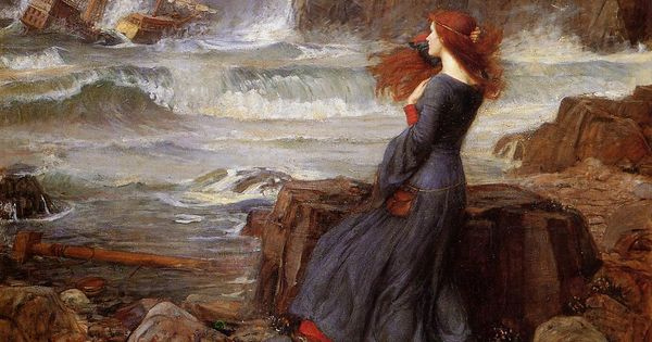 [John William Waterhouse - art print, poster - Miranda - The Tempest]