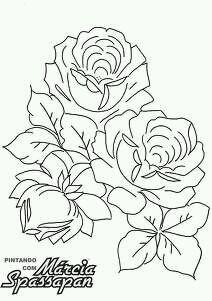 Riscos Para Pintar Rosas Coisas Para Desenhar Ideias Esboco