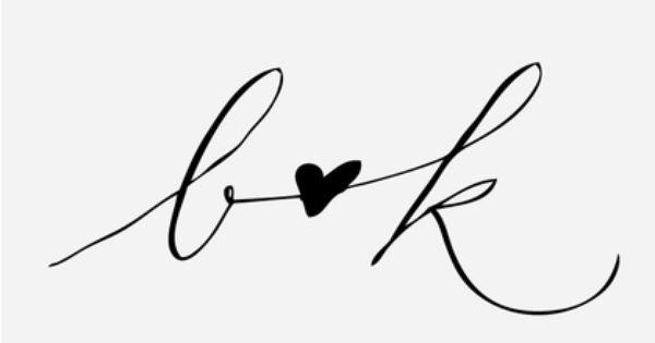 """Scripted Heart"" Handwritten Initial Stamp"