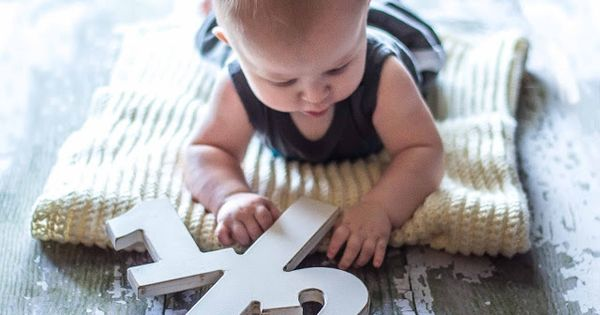 6 Month Photo Ideas - Half Birthday Photo Prop for Baby -
