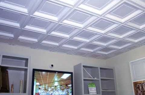 coffered ceiling tiles great for a basement or commercial space