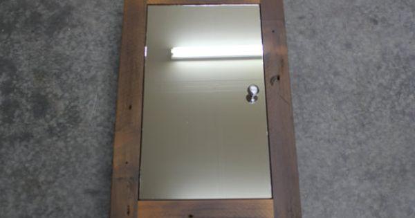 Rustic Reclaimed Cedar Medicine Cabinet Or Spice Cabinet