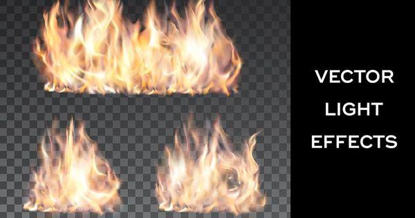 Vibrant Web Banners Set Light Effect Vector Campfire