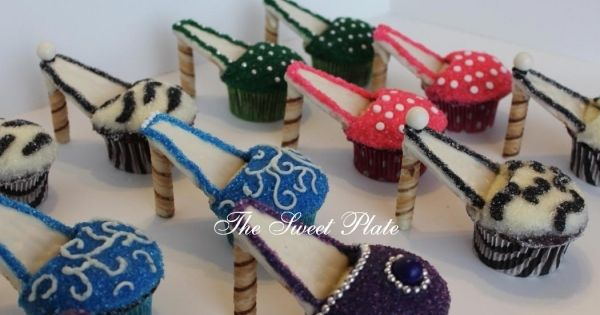 High Heel Cupcakes - For a bachelorette party.