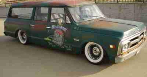 Sell Used 1969 Chevrolet Gmc Suburban Rat Rod Shop Truck Bbc Air