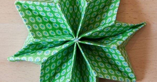 Diy pliage de serviette en toile diy pinterest - Pliage serviette etoile 5 branches ...