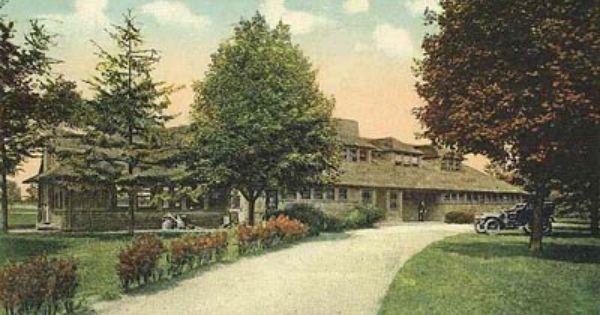 Garden City Postcard Post Card Golf Club House Garden City Ny