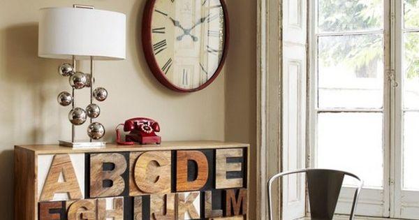 Letters indoors 25 home decor furniture - Letras home decoracion ...