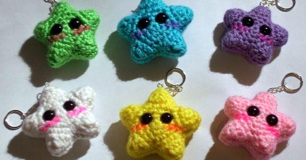Kawaii Amigurumi Anleitung : Kawaii Star Keychain - Stern - kostenlose Anleitung ...