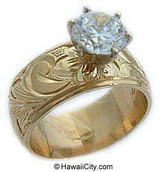 Hawaiian Heirloom Jewelry 14k Yellow Gold Engagement Rings 14k Yellow Gold Engagement Ring Antique Wedding Rings Yellow Gold Engagement Rings