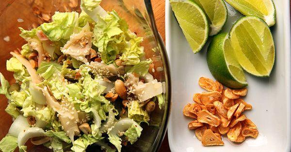 Crunchy Burmese Ginger Salad   Recipe   Burmese, Salads and Fish Sauce