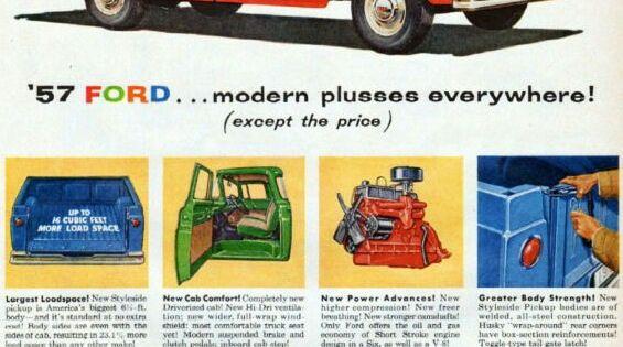 Ford Trucks 1957 Ford Truck Pickup Trucks Ford