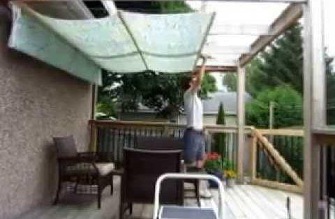 Diy Retractable Pergola Canopy Awning Youtube Home Diy